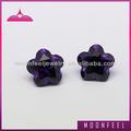 Cinque petali di fiori forma cubic zirconia/sciolto cz pietra viola