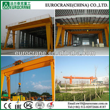 Double girder gantry crane used for factory yard