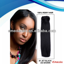 Factory no shedding Heat Resistance Fiber cheap Synthetic Hair Wefted