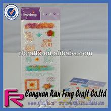 Clear Epoxy Resin Sticker