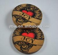 Cork coasters coffee cup pot holder placemat bowl pad disc pads cork mat heat insulation pad 18* 0.3cm