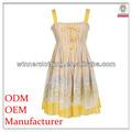 clássico design de venda quente de verão estilo country vestidos com cordão adornado
