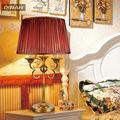de lujo 2013 de bronce antiguos y clásicos de latón de alta calidad de las lámparas de mesa lámparas de mesa con el reloj