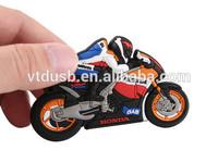 New Design Cute Motorbike Design Silicone 1G/2G/4G USB Flash Drive cool motorcycle shape sticks pen flash usbs