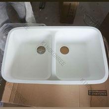 stone resin one & half bowl sink , bathroom basin and sinks, sanitary ware vanity top basin & bowl