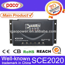 Outback charge controller 20A ,12V and 24V,LED display,with CE,CB,RoHS certificate