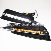 Cruze 9pcs LED Fog Lamp LED Fog Daytime Running Light with Turn lights 2009-2012 year V4