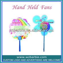 Advertising Plastic Hand Fan Sticks With Logo Printing