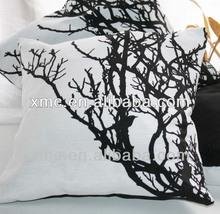 Black and White Printed Cushion. Love Is Dachsund cushion