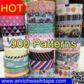 700 los patrones de la impresión de colores washi, hermosa cinta de wt, wt anrich cinta,