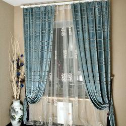 MT 1217 Curtain Wholesale Flocked Curtain Decorative Curtain Tape Elegant Valance