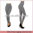 Wholesale Elegant Checkered High Waist Leggings