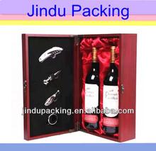 high-end popular new design wooden wine case for two bottles