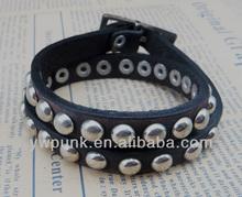 rea leather studs jewelry personalized cuff bracelets fashion a lot