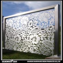 laser cut stainless steel metal screen