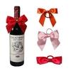 unique design wine bottle bow tie/wholesale ribbon bow for wine bottles/cheap fancy bottle neck decorative bows