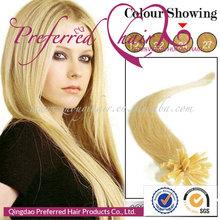 Preferred Hair Hottest&Topest Sale!22# 20'' Yaki Straight Style 100% Brazilian Hair U-Tip Pre-Bonded Hair Extension Hotsale