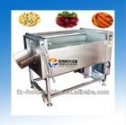 MSTP-500 industrial brush type vegetable fruit cavassa washing peeling polish machine high output 800kg/h