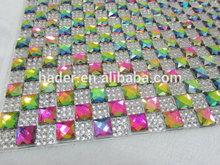 Bling Decorative Crystal Rhinestone Sheet For Garment