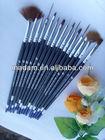 15 pcs nail art brush set black color in
