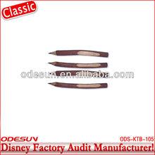 Disney factory audit manufacturer's carved wood pen 143390