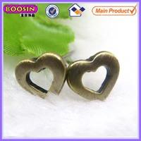 Simple design antique bronze color daily wear earrings, heart shape earrings for daily wear #21773