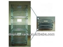 warehouse big capacity folding steel storage cages HSX-2158