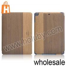 Kajsa Brand Wood Pattern Leather Wallet Case for iPad Air