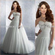 Ar0211 Beautiful Backless Beaded Tulle Wedding Dress 2012