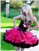 Gorgeous Fluffy pettiskirt boutique fluffy pettiskirt tutu skirt bulk sale chiffon dance skirt for kids