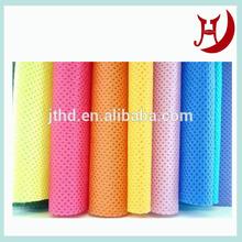Half cross lapping polyester + viscose spunlace nonwoven fabric