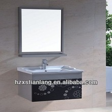 cheap wall mounted slim stainless steel bathroom vanity with mirror