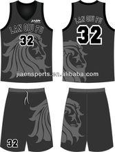 100% polyester inter lock double face basketball uniform