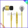 Metal earphone with fashion shape, various colors are available,braid cord metal earbud/earphone(KE-901)