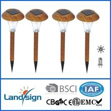 cheap solar lights, landsign, Item number: XLTD-317W, Wooden color finished, 1* led, no switch,