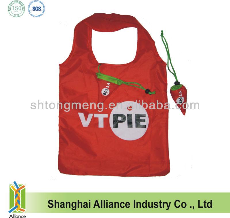 Hot Pepper/ Carrot Foldable Shopping Bag With Custom Logo Printing