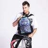 Green color owl printing 3D animal backpack bags school BBP115