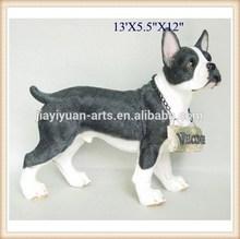 outdoor decorative polyresin dog