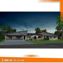 Beautiful Steel House American Style Villa Design