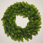 styrofoam base top quality UV protection grass leaf wreath
