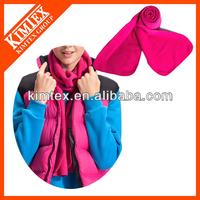 Colorful custom brand promotion polyester polar fleece scarf