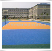 Triangle Pattern Flooring/Interlocking Plastic Flooring/Outdoor Sport Court Plastic Tiles