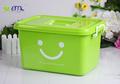 2014 pass ISO9001 YIMEI plástico PP colorido sorriso boxs de armazenamento