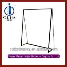 black texture powder coating clothes racks/shop furniture garment display