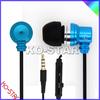 Soul universal 3.5mm plug earphone headphone high quality heavy metal earphones for MP3, earphones with metal metiral (KEM-901)