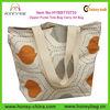 Pumpkin And Grey Canvas Zipper Purse Tote Bag Carry All Bag