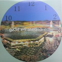 Round shape diameter 29.5cm lenticular 3d wall clock (W-DL001)