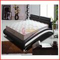 venda quente cama de couro rosa com cristal fg820