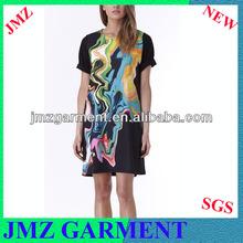verano dropshiping hawaiano vestidos para las mujeres vestir 2014