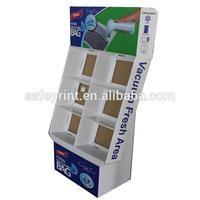 Customized book cardboard shelf wobbler display